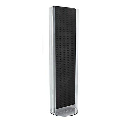 "Azar Displays 16"" x 60"" Pegboard Floor Stand Black"