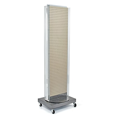 Azar Displays Pegboard Floor Stand, Revolving Base, 60