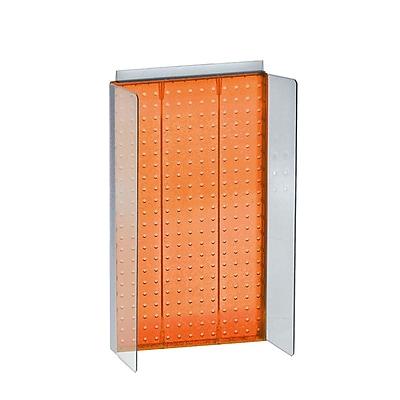 Azar 22 x 13.5-inch Orange Pegboard Powerwing Display Each