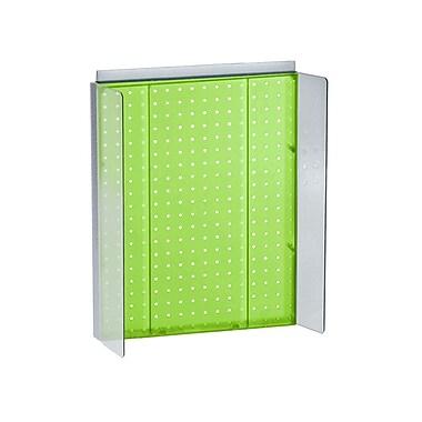 Azar Displays – Panneau perforé vert translucide avec ailes, 16 larg. x 20,25 haut. (po) (700357-GRE)