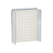 """Azar Displays 16""""W x 20.25""""H Pegboard Powerwing in Solid White (700357-WHT)"""