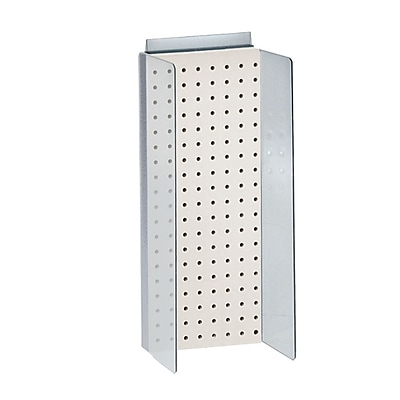 Azar White Pegboard Powerwing Display 20.6 x 8-inch