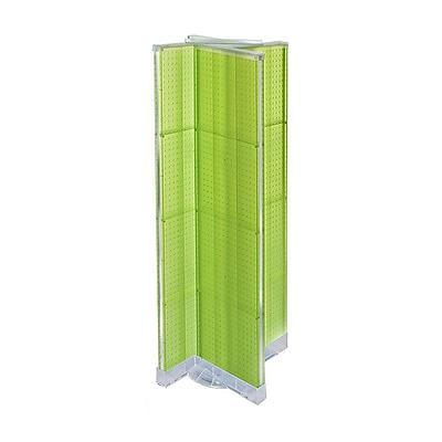 """Azar Displays 16"""" x 60"""" Pegboard Floor Display Green"""