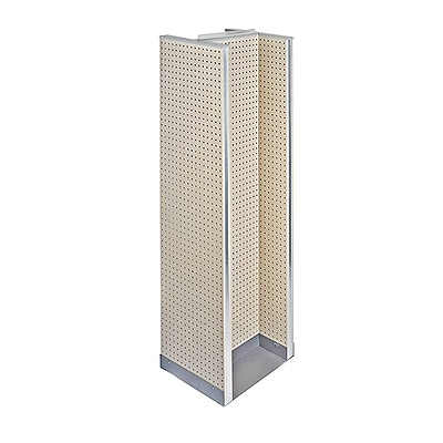"Azar Displays 60"" x 16"" Pegboard Floor Display H-Spinner Almond"