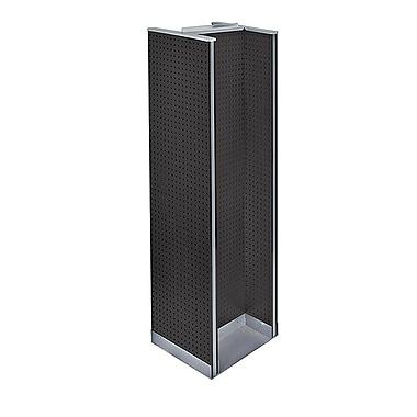 Azar Displays – Présentoir de plancher en H à panneaux perforés, 60 x 16 po, noir (700430-BLK)