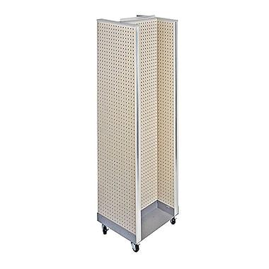 Azar Displays – Présentoir de plancher H-Unit, 60 x 16 po, amande (700431-ALM)