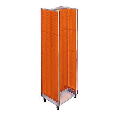 Azar Displays – Présentoir de plancher en H, 60 x 16 po, orange (700431-ORG)