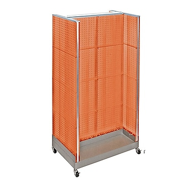 Azar Displays – Présentoir en H à panneau perforé, 66 x 36 po, orange (700432-ORG)