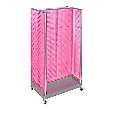 Azar Displays - Présentoir en H à panneau perforé, 66 x 36 po, rose (700432-PNK)