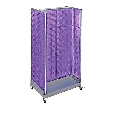 Azar Displays – Présentoir en forme de H en panneau perforé, 66 x 36 po, violet (700432-PUR)