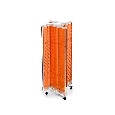 Azar Displays – Présentoir rotatif en panneau perforé, 44 x 13,5 po, orange (700443-ORG)
