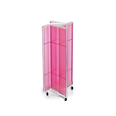 "Azar Displays 13.5"" x 44"" Pegboard Pinwheel Unit Pink"