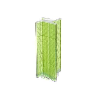 Azar Displays – Présentoir rotatif en panneau perforé en plastique, 13,5 x 44 po, vert (700444-GRE)