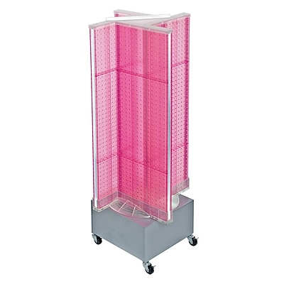 Azar 54 x 13.5-inch Pink Pegboard Floor Display Pinwheel Spinner