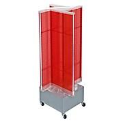 """Azar Displays 13.5"""" x 54"""" Plastic Pegboard Floor Display Pinwheel Spinner Red"""