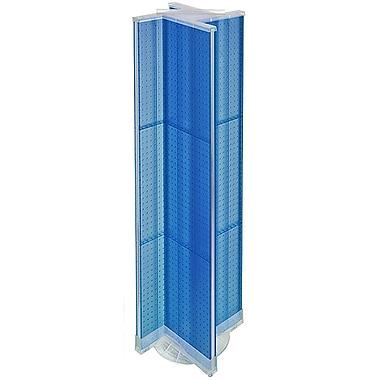 Azar Displays – Présentoir virevent perforé à 4 côtés, 13,5 L. x 60 P. (po), base tournante, bleu translucide (700460-BLU)