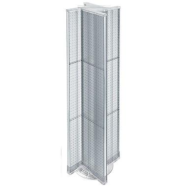 Azar Displays – Présentoir rotatif à panneaux perforés, 13,5 x 60 po, transparent (700460-CLR)