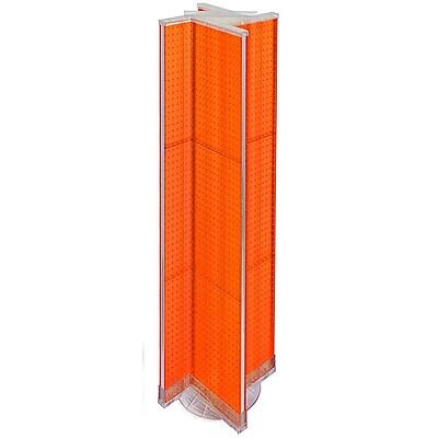 "Azar Displays 13.5"" x 60"" Pegboard Display Pinwheel Spinner Orange"