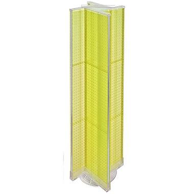 Azar Displays – Présentoir virevent perforé à 4 côtés, 13,5 L. x 60 P. (po), base tournante, jaune translucide (700460-YEL)