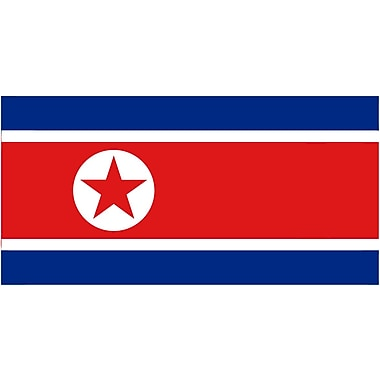 International Flag, North Korea, 36