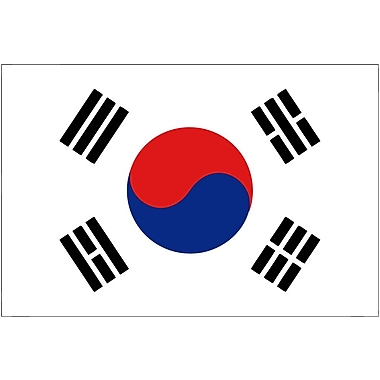 International Flag, South Korea, 36