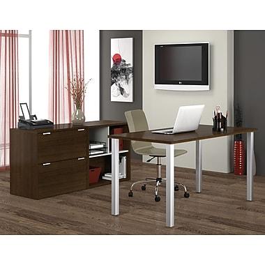Bestar Contempo Executive Desk Kit, Tuxedo Grey