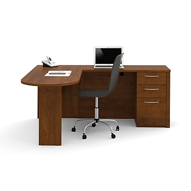 Bestar Embassy L-Shaped Workstation Kit, Tuscany Brown
