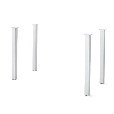 BESTAR Build Your Desk Square Legs, 4/pack, Silver finished