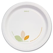 "Solo Bare® Eco-Forward® Perfect Pak® Paper Medium-Weight Plates 8.5"", Bare® Design, 250/Pack (OFMP9-J7234)"