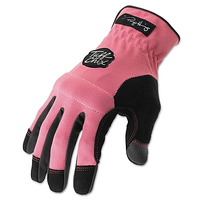 Ironclad Tuff Chix® Synthetic Leather Women's Gloves, Pink/Black, Medium