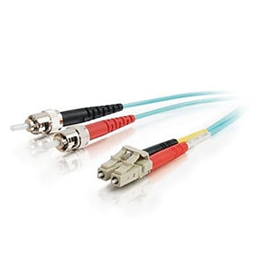 C2G® Set Multimode Fiber Optic Cable, Aqua