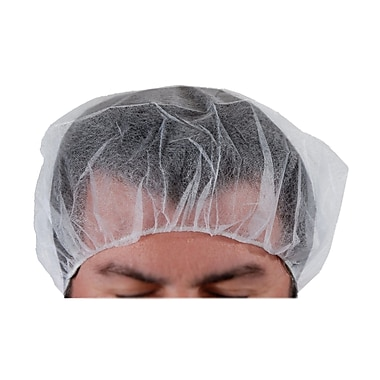 511 Foods Nylon Bouffant Cap, White, 21