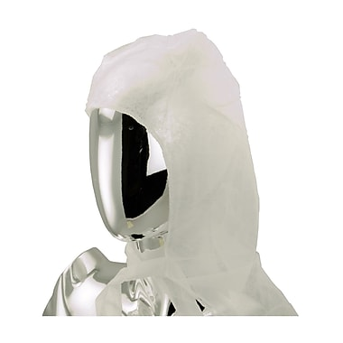 511 Foods Non Woven Hood With Chin Ties, White