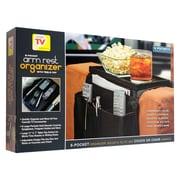 Trademark 80-02057 Arm Rest Organizer, Black