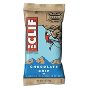 Clif® Bar Chocolate Chip Energy Bar, 2.4 oz., 12 Bars/Box