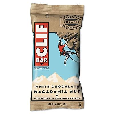 Clif® Bar White Chocolate Macadamia Nut Energy Bar, 2.4oz., 12/Box
