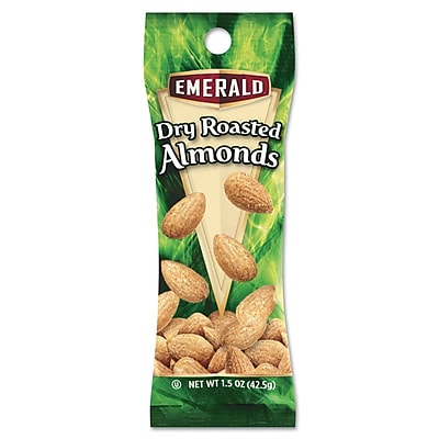 Emerald Dry Roasted Almonds Tube Nuts, 12/Box
