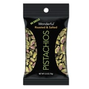 Paramount Farms® Dry Roasted & Salted Wonderful Pistachios 2.5 Ounce Bags, Box of 8 (PAR070146A25M)