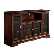 "Walker 52"" Highboy Style Wood TV Stand, Rustic Brown"
