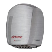 World Dryer® Airforce™ 110 - 120 V Hygienic High-Speed Automatic Hand Dryer, Brushed Stainless Steel