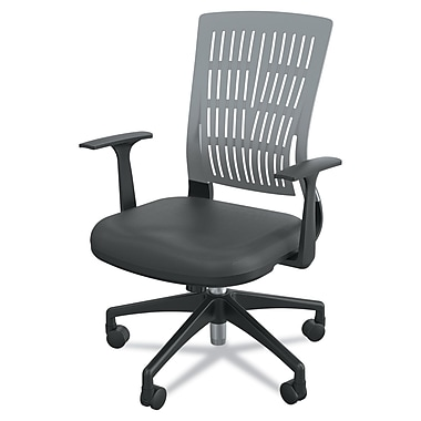 Balt Fly Fabric Conference Office Chair, Fixed Arms, Black/Gray (34744)