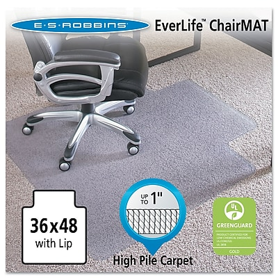 ES Robbins® EverLife™ Chair Mats for High to Extra-High Pile Carpet, 36
