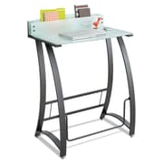 "Safco® Xpressions™ Stand-Up Desk, 35"" x 23"" x 49"", Frosted/Black (1941TG)"