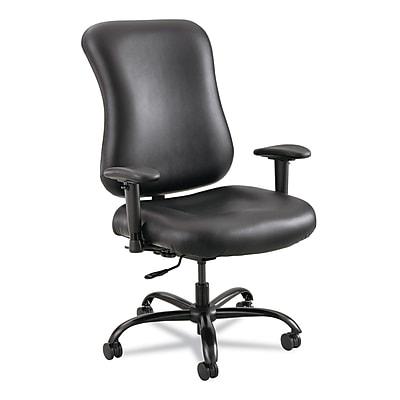 Safco® Optimus™ High Back Big & Tall Chair, Vinyl, Armless, Black (3592BL)