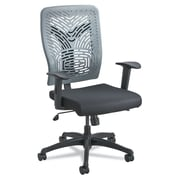 Safco Voice Fabric Computer and Desk Office Chair, Adjustable Arms, Black/Charcoal (5085CH)