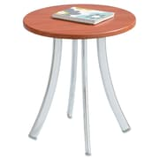 "Safco®, Decori Wood Side Table, Round, 15-3/4"" Dia., 18-1/2"" High, Cherry/Silver (5098CY)"