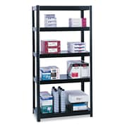 "Safco® Boltless Shelving, 5-Shelf, 72"", Black (5247BL)"