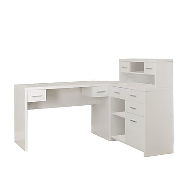Monarch Hollow Core L Shaped Desk White