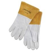 Anchor Brand® Capeskin Standard Gunn-Straight Thumb TIG Welding Gloves, Large, White