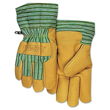 Anchor Brand® Pigskin Cold Weather Gloves, Large, Gold